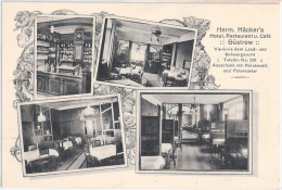 G�STROW Hermann H�ckers Restaurant u Cafe 10.5.1916 datiert als Feldpost TOP-Erhaltung