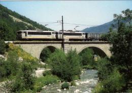 CPM LE RAIL USSELLOIS N° 234 BB 8619 Et 8628 Peu Après MERENS LES VALS 09 - Trenes