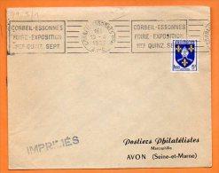 CORBEIL ESSONNES  FOIRE EXPO.      13 / 4 / 1957  Lettre Entière N° R  28 - Marcophilie (Lettres)