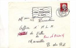 Devant De Lettre Flamme Marseille Bal + Muette Amiens - Marcofilie (Brieven)