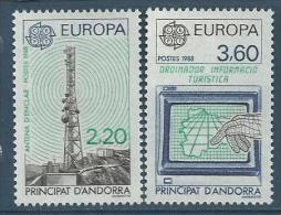 "Andorre YT 369 & 370 "" Europa "" 1988 Neuf** - French Andorra"