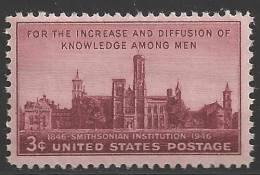 1946 3 Cents Smithsonian Mint Never Hinged - Ongebruikt