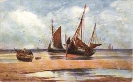 J. Eaman  -  Fishing Boats On The Sands Near Brighton   -    6276 - Tuck, Raphael