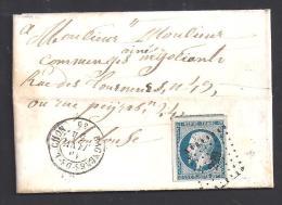Haute Garonne - TB  N° 10 Oblitéré  P.C. 229 + Type 15 Bagnères De Luchon - Postmark Collection (Covers)