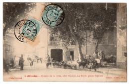 """"""" OLLIOULES - Entrée De La Ville Côté Toulon - La Poste Place Septem """" TRES RARE - Ollioules"""