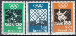 Brasilien / Brazil - Mi-Nr 1529/1531 Postfrisch / MNH ** (w555) - Estate 1976: Montreal