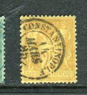 Rare N° 92 Oblitéré Cachet à Date De Constantinople 1885 - 1876-1898 Sage (Type II)