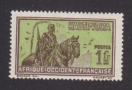 Upper Volta, Scott #58, Mint Hinged, Hausa Warrior, Issued 1928 - Neufs