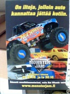 AUTO CAR MONSTER TRUCK JAM HOT WHEELS POSTCARD Tampere - Lippupalvelu  FINLANDIA   N2010 ET16671 - Other