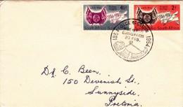 C-01-235 - Afrique Du Sud E - Enveloppe  - COB  - Pretoria -  - YT Nr 199200 Lettre Letter Brief Pretoria -  Du 23-2-195 - Timbres