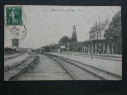 Ref3925 JU CPA Animée De Busseau D'Ahun (Creuse) - La Gare Le Quai Et Les Voyageurs - A. De Nussac édit. Guéret 1907 - Autres Communes