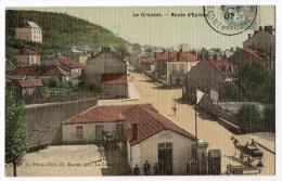 """"""" Le CREUSOT - Route D'Epinac  """" Carte Toilée Colorisée TBE - Le Creusot"""