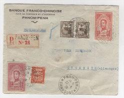 Indochina Brief 1938 nach Deutschland Chemnitz