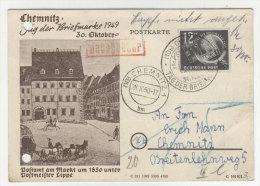 DDR Michel No. 245 auf Karte