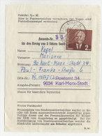 DDR Michel No. 623 auf Sammler Ausweis