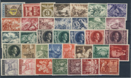 Deutsches Reich No. 828 - 863 ** postfrisch / kompletter Jahrgang 1943