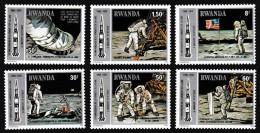 RWANDA 1979 - Astronautes, Navette Spatiale, Homme Sur La Lune - 6 Val Neuf // Mnh - Rwanda