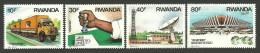 RWANDA 1986 - Transports Et Communications, Camion, Aéroport De Kigali, Antenne Satelite - 4 Val Neuf // Mnh - Rwanda