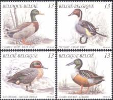 Belgium**DUCKS-Birds-4vals-Waterfowl-MNH-1989-Canards-Enten-Eenden- Oiseaux-Vogel-Ucelli-Wildlife- - Belgium