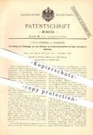Original Patent - J. M. K. Pennink In Haarlem , 1895 , Erzeugung Von Zwei Strömen Von Explosionsprodukten !!! - Historische Dokumente