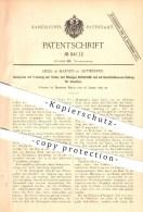 Original Patent - Emile De Harven In Antwerpen , 1895 , Senkgrube Mit Trennung Der Festen Und Flüssigen Abfallstoffe !!! - Antwerpen