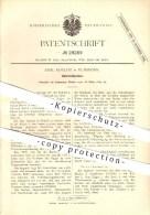 Original Patent - Emil Koelitz In Elmshorn , 1884 , Gährkraftprober , Bier , Brauerei !!! - Elmshorn