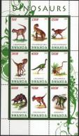 RWANDA 2009 - Faune Préhistoire, Dinosaures - Feuillet De 9 Val Neuf // Mnh - 1990-99: Mint/hinged