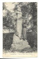 Cp, 50, Cherbourg, Statue De Millet, Jardin Public, Voyagée 1907 - Cherbourg