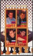 RWANDA 2010 - Drapeaux, Echecs, Champions II - BF De 4 Val Neuf // Mnh - 1990-99: Neufs