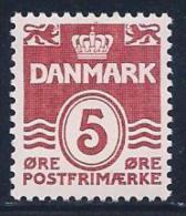 Denmark, Scott # 224 MNH Numeral, 1938 - Unused Stamps