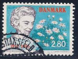 Denmark, Scott # 775 Used Queen Mother, Flowers, 1985 - Denmark