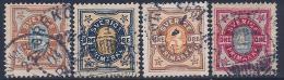 Sweden, Scott # 52-5 Used Numeral, 1891-2 - Suède