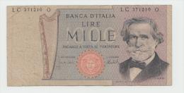 Italy 1000 Lire 1975 AF Banknote G. Verdi Pick 101d 101 D - 1000 Lire