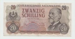 Austria 20 Schilling 1956 VF+ Pick 136 - Autriche
