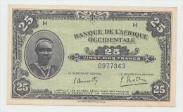 French West Africa 25 Francs 1942 AUNC Pick 30a - Sonstige – Afrika