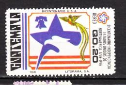 Guatemala, Indépendance USA, Independence, Cloche De La Liberté, Liberty Bell, Révolution, Aigle, Eagle, Oiseau, Bird, - Us Independence