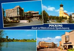 AK Pocking In Niederbayern Ndb. Bayern Deutschland Stock-Steubl Rathaus Kirche Church Germany Allemagne Ansichtskarte - Pocking