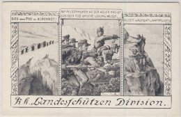 �sterreich - KK. Landessch�tzen-Division, Sonderkarte/Feldpost 399 - Innsbruck