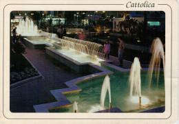 CATTOLICA    LE FONTANE   GIOCHI D' ACQUA       MAXI-CARD    (VIAGGIATA) - Italien