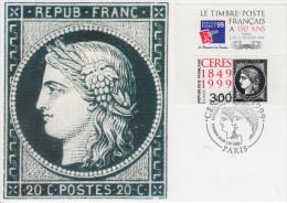 Carte Maximum  1er  Jour   CERES    PHILEXFRANCE   1999 - Maximumkarten
