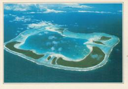 POLINESIA   ATOLLO  DI  TETIAORA        (NUOVA CON DESCRIZIONE DEL SITO SUL RETRO) - Polinesia Francese