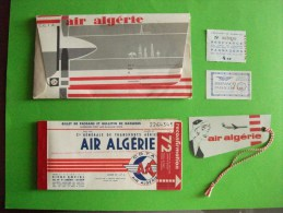 UN BILLET TRANSPORT AVION avec AIR ALGERIE  (  ma ref: 5692/93    )