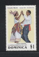 Dominica 1991, $1 Dancing, Creole Week, minr 1474, MNH