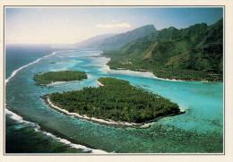 POLINESIA   LAGUNA  CORALLINA        (NUOVA CON DESCRIZIONE DEL SITO SUL RETRO) - Polinesia Francese