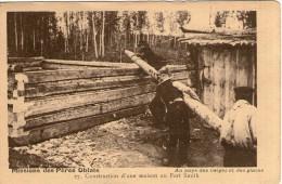 V20 / ETATS UNIS CPA  Missions Des Pères Oblats - Construction Maison Au Fort Smith NEUVE NON VOYAGEE VOIR DOS - Fort Smith