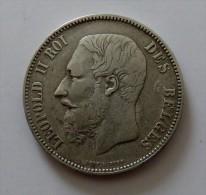 LEOPOLD II  5 FRANCS 1867 POINT  ARGENT SILVER 25 GR - 09. 5 Franchi