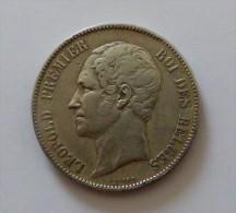 LEOPOLD I 5 FRANCS 1852   ARGENT SILVER 25 GR - 11. 5 Franchi