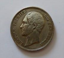 LEOPOLD I 5 FRANCS 1850  ARGENT SILVER 25 GR - 11. 5 Franchi