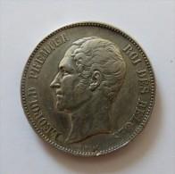 LEOPOLD I 5 FRANCS 1849  ARGENT SILVER 25 GR - 11. 5 Franchi