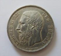 LEOPOLD II 5 FRANCS 1867 ARGENT SILVER 25 GR - 09. 5 Franchi